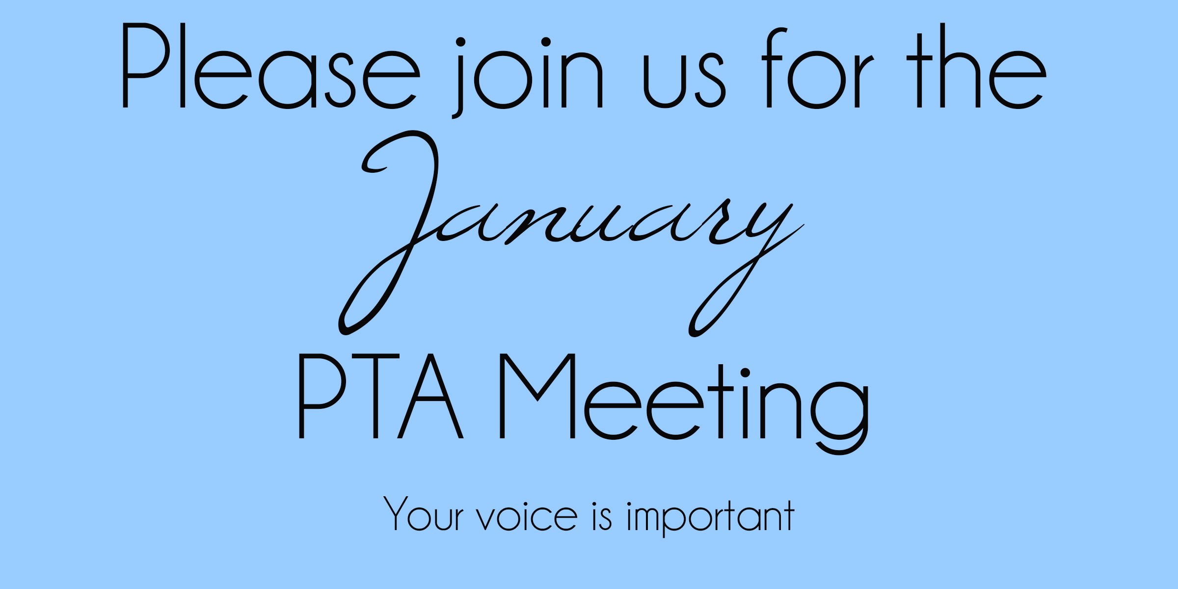 meeting announcement clarinda pta